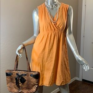 Orange Dress Merona With Lace